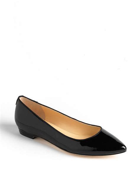 ivanka flats shoes ivanka leather flats in black lyst