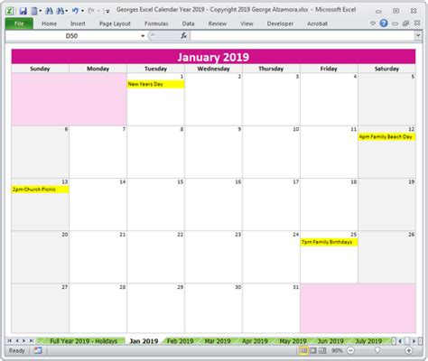 year  calendar excel templates buyexceltemplatescom