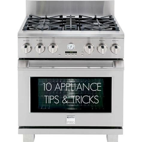 10 appliance tips and tricks book design