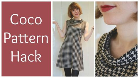 pattern hacker sewing a houndstooth coco pattern hack youtube
