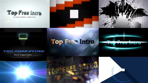 Top 10 Intro Templates Free Sony Vegas Pro 13 Download Youtube Sony Vegas Template