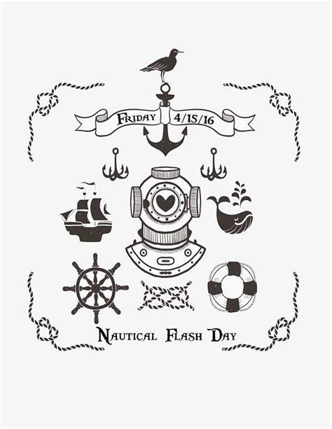 Ink Or Swim Tattoo Nautical Flash Day Rsvp Today Nautical Flash 2
