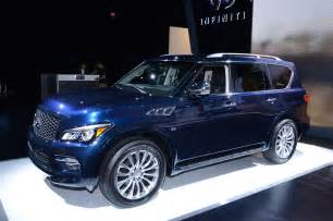Infinity Qx 80 2015 Infiniti Qx80 Shows New Look In New York Motor