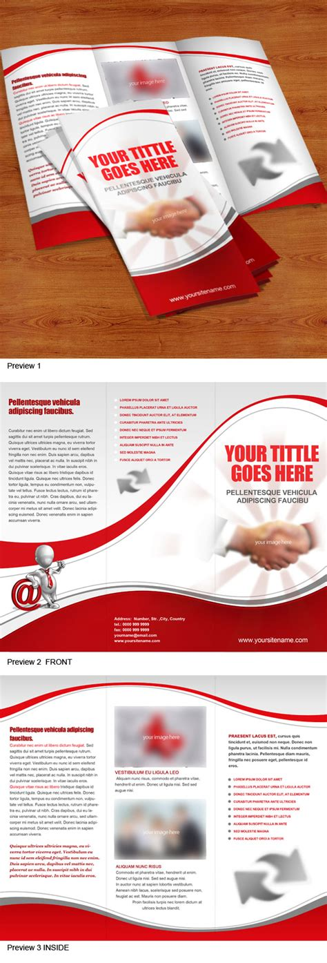tri fold brochure templates psd tri fold brochure psd template free psd files