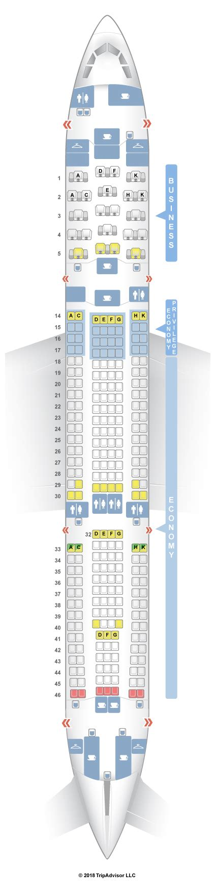 Brussels Airlines Airbus A330 200 by Seatguru Seat Map Brussels Airlines Airbus A330 200 332