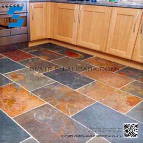 2015 hot sale natural slate stone eco friendly slate floor tiles cheap floor tiles for sale