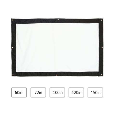projector screen curtain 100 inch high quality portable home theater projector