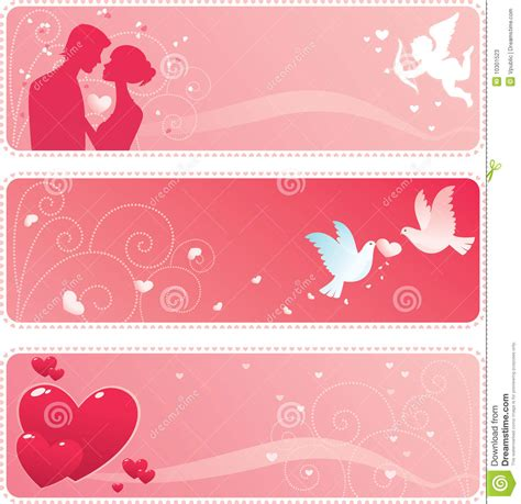 design banner valentine valentine banner stock photos image 10301523