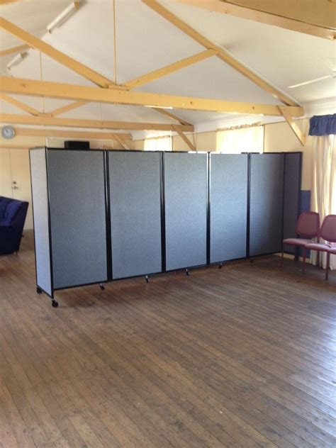 mobile room dividers creating multi function spaces within church centres using