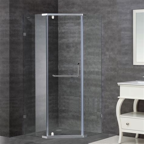 36 Inch Shower Stall by Aston 36 Inch X 36 Inch X 75 Inch Neo Angle Semi Frameless