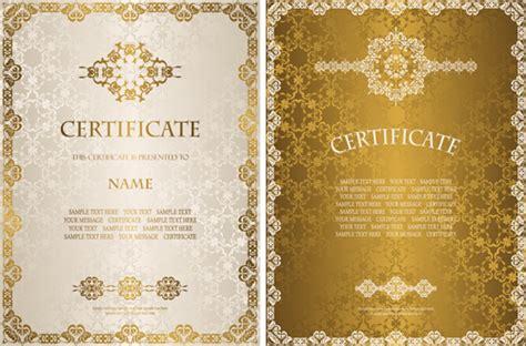 certificate design golden free adobe illustrator template certificate free vector