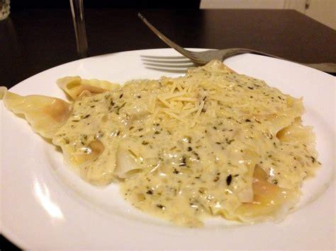 ravioli with garlic cream sauce recipe dishmaps