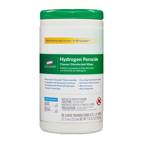 clorox  hydrogen peroxide wipes canister