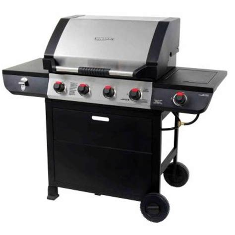 199 00 brinkmann grill king 4 burner 12 000 btu propane gas grill with stainless steel hood