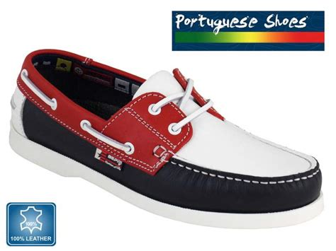 best value for money boat shoes quality leather boat shoes in red white blue