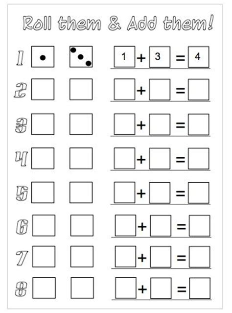 printable math games with dice pinterest the world s catalog of ideas