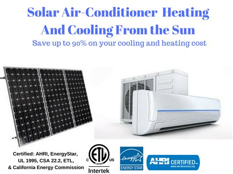 solar powered heat l hybrid solar air conditioners heat pump global solar energy