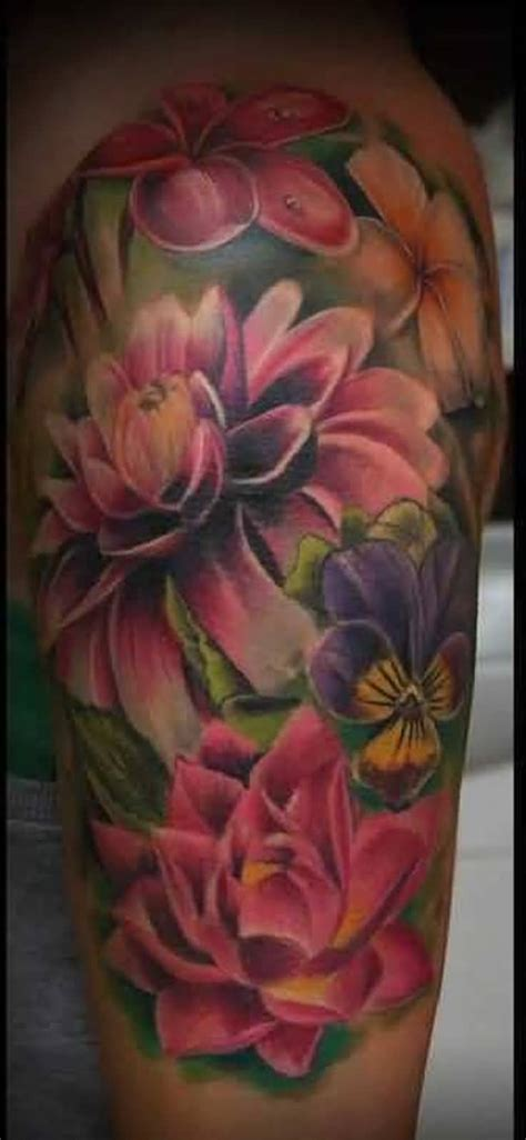 3 flower tattoo 3d flower tattoos truetattoos