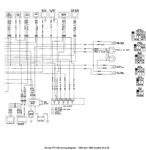 1986 honda shadow vt1100c wiring diagram honda crf450x