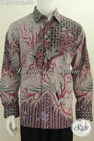 Hem Batik Katun Furing Pj Kemeja Batik Terbaru Batik Kantor M 2 baju hem kerja lengan panjang bahan batik tulis daleman