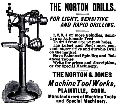 makers tool works norton jones machine tool works history