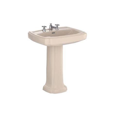 Bone Pedestal Sink toto guinevere pedestal combo bathroom sink in bone lpt970 8 03 the home depot