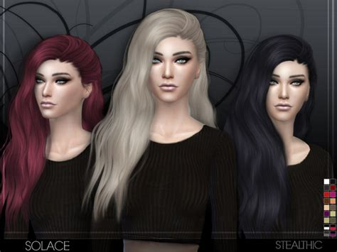 vanity female hair by stealthic at tsr sims 4 updates solace female hair by stealthic at tsr 187 sims 4 updates