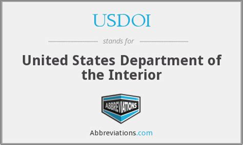 Us Department Of The Interior by Usdoi United States Department Of The Interior