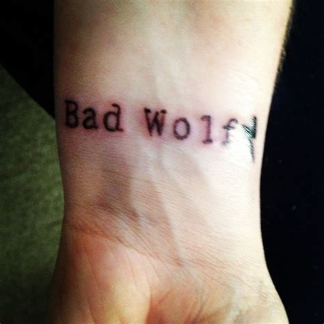 bad wolf tattoo pin by catie sullivan on tattoos
