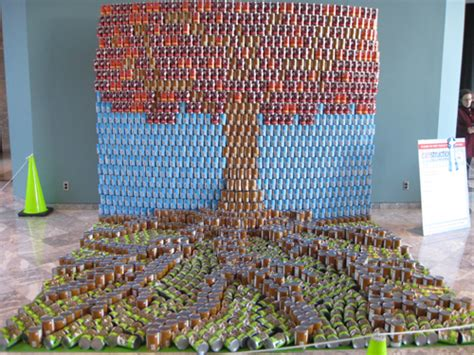 how to build a canned food sculpture canstruction architects build sculptures with canned food