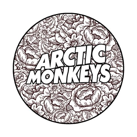 T Shirt Artic Monkey 5 Colors arctic monkeys flower circle logo do i wanna t