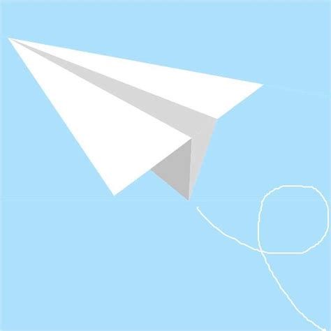 A Paper Airplane - adobe photoshop designing a paper plane for the