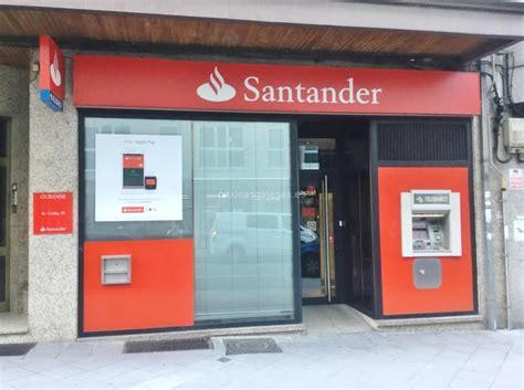banco de santander telefono banco santander ourense avda caldas 20
