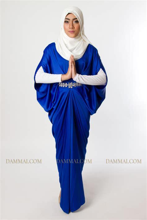 Gamis Muslim Aresya Dress blue kaftan dammai