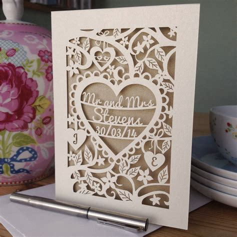 Pink Bathroom Ideas by Personalised Papercut Wedding Card By Pogofandango