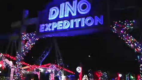 lake compounce holiday lights dino expedition during holiday lights at lake compounce
