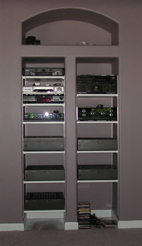 Av Rack In Wall by In Wall Audio Racks Architectural The Klipsch Audio