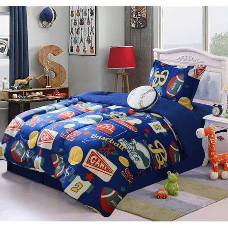 Size Sports Bedding by Wpm 4 Size Comforter Set Sports Football