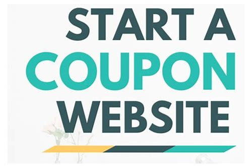 how to start an online coupon website