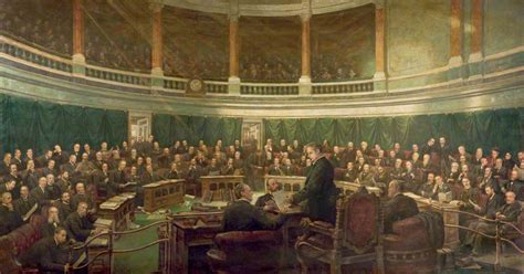 the london county council file the first meeting of the london county council in the county hall spring gardens 1889