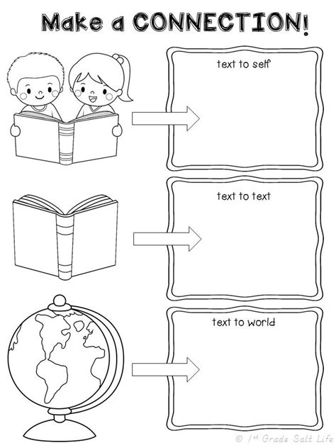 printable reading comprehension graphic organizers freebie making connections graphic organizer first