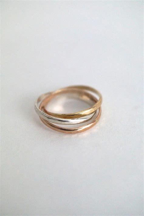 interlocking rings sterling silver 14k gold fill 14k