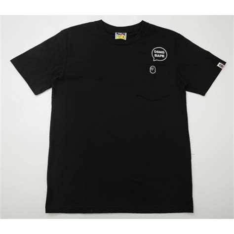 Kaos Tshirt Bape X Undefeated 1 a bathing ape dsmg bape t shirt black