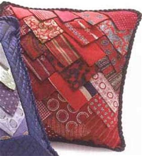chic recycler: vintage necktie pillow