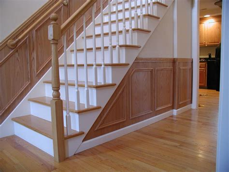 White Wainscoting With Oak Trim woodworking inc oak wainscoting