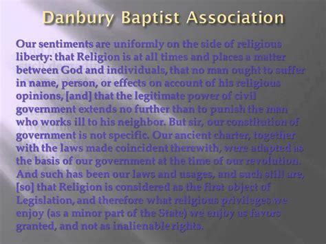 Explanation Of Jefferson S Letter To The Danbury Baptists Danbury Baptist Letter