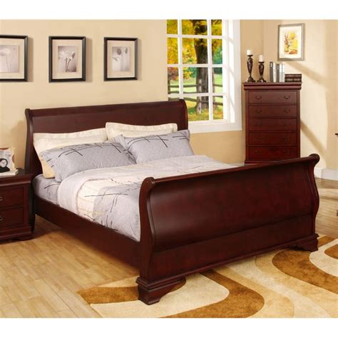 california king sleigh bedroom set furniture of america easley california king sleigh bed in