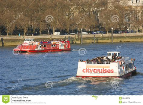 thames river cruise oyster card london tour boat on thames river editorial stock image