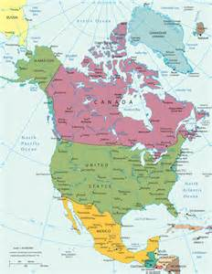 map of america continent america continent map