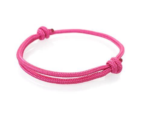pink lake nautical rope bracelet watchbandit